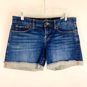 Lucky Brand Abbey Frayed Cuffed Jean Shorts 8/29
